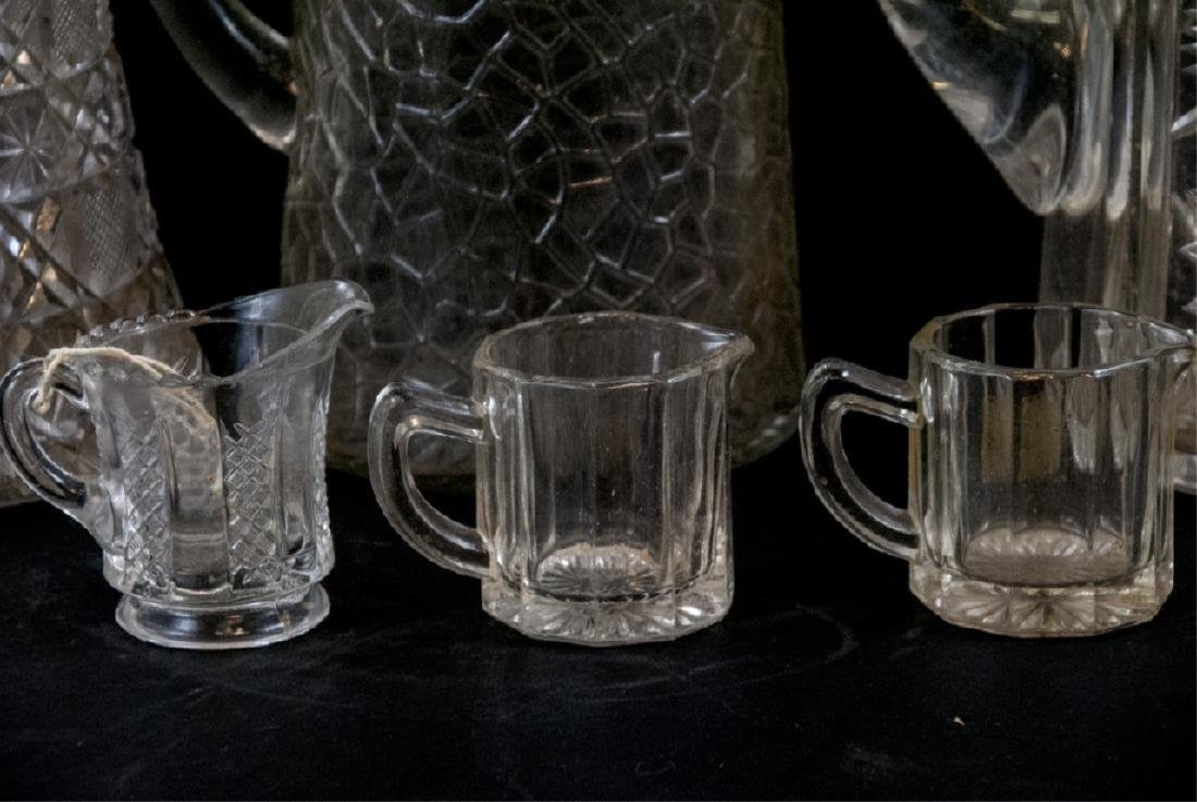 Vintage Cut Lead Crystal & Glass Pitchers - 3