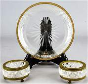 Antique French Baccarat Style Crystal & Ormolu Set