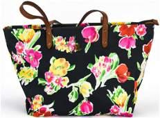 Lauren Ralph Lauren Floral Motif Tote Bag