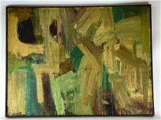Mid C Modern Abstract Oil Painting Signed