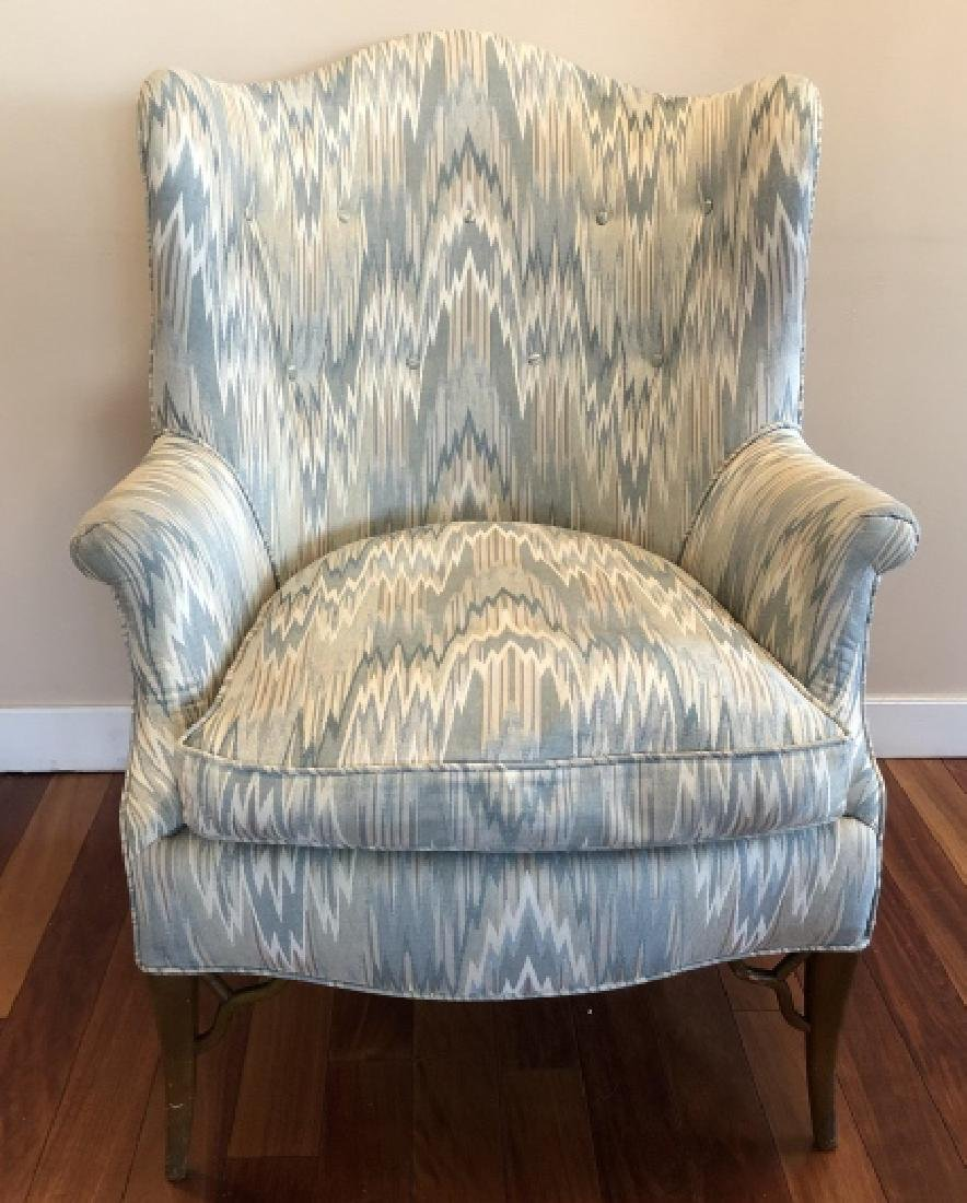 Chinese Chippendale Style Wing Back Chair