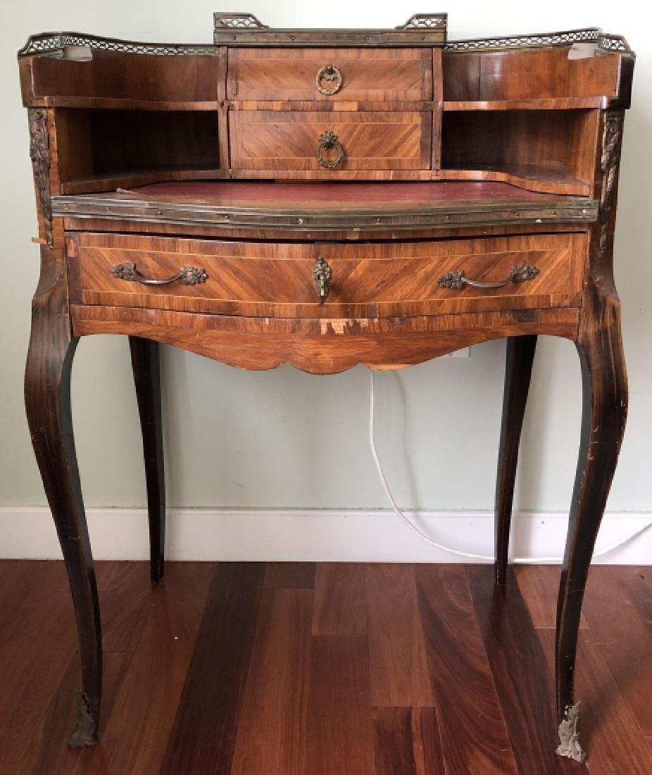 Antique French Louis XV Leather Top Writing Desk