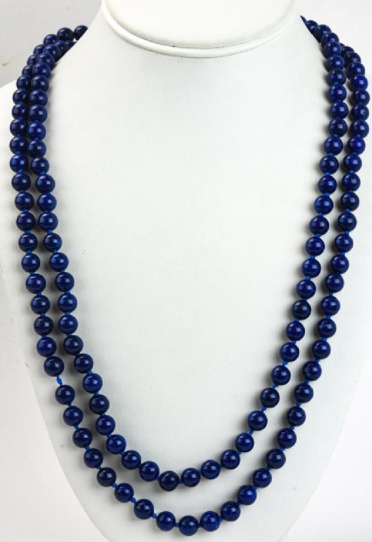 Lapis Lazuli & 14kt Gold Clasp Beaded Necklace