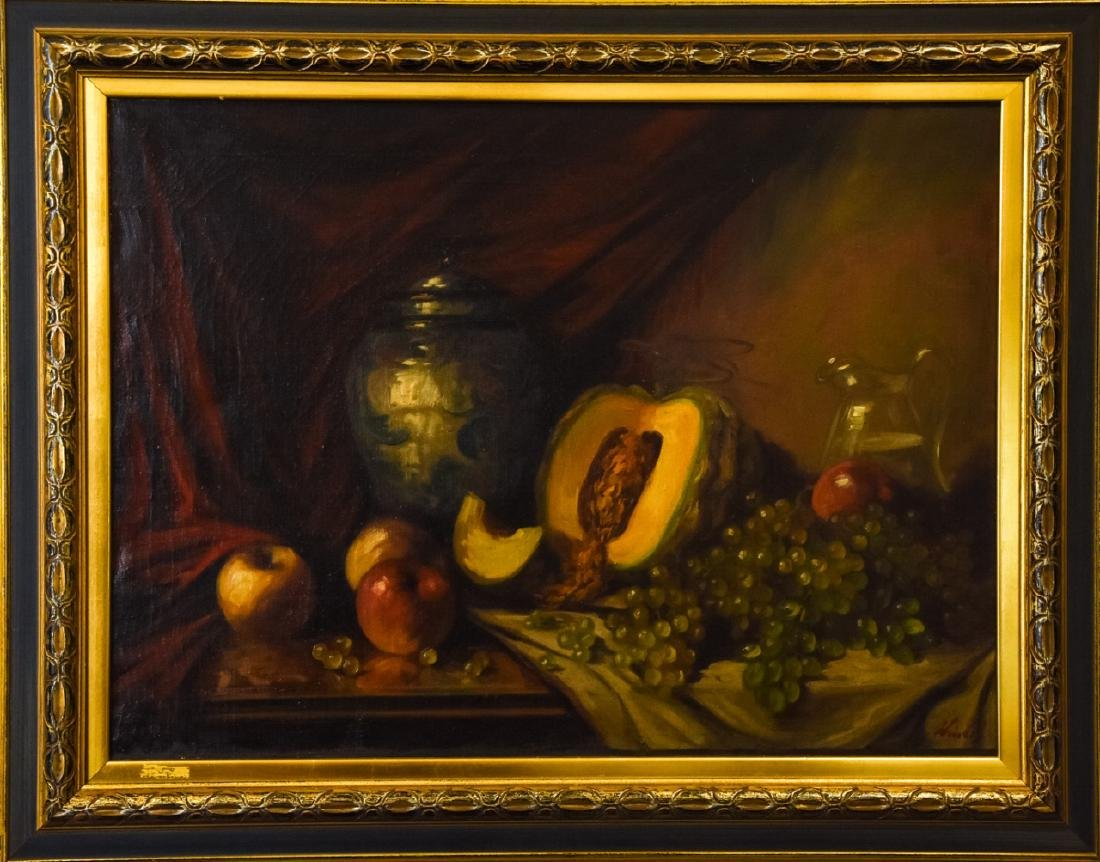 Old Master Style Signed Still Life Oil Painting