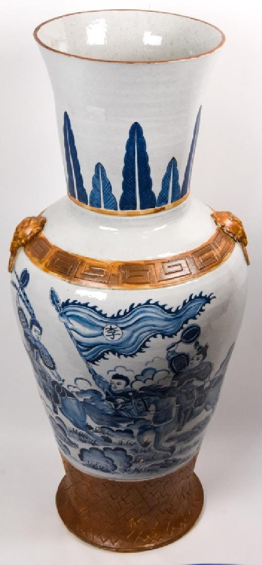 Palace Size Chinese Blue & White Porcelain Vase