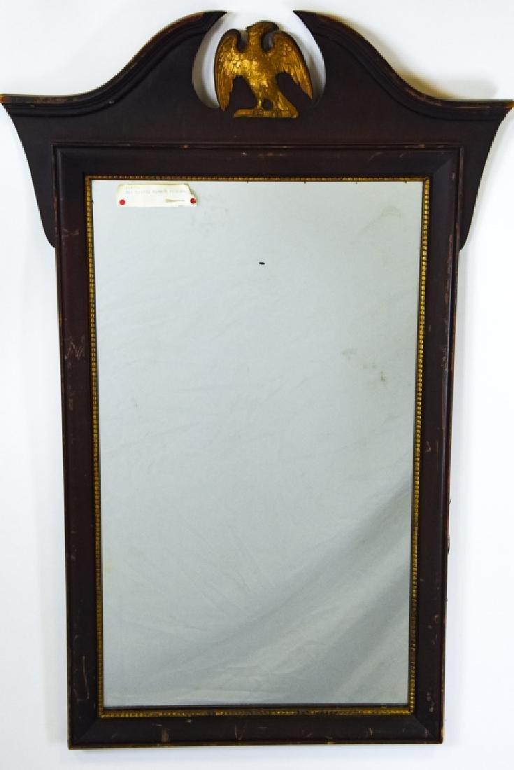 Federal Style Wooden Mirror W Eagle Pediment