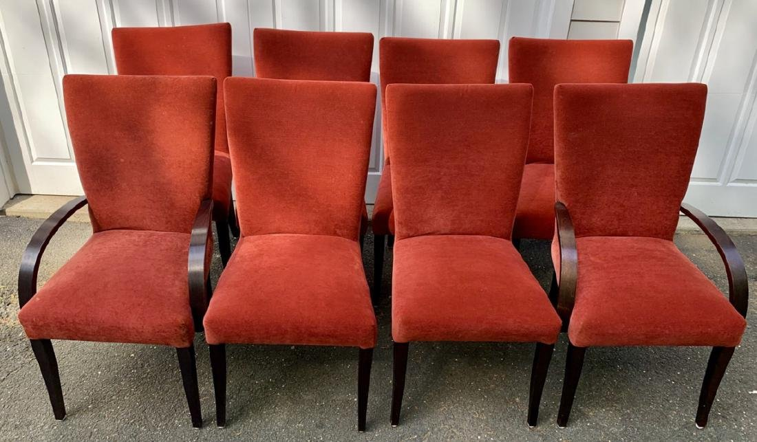 8 Parsons Style Upholstered Dining Chairs