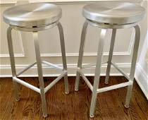 Contemporary Industrial Stainless Steel Bar Stools