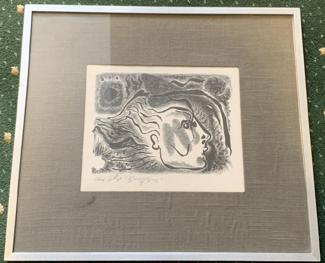 Mid Century Lithograph Pencil Signed Andre Masson