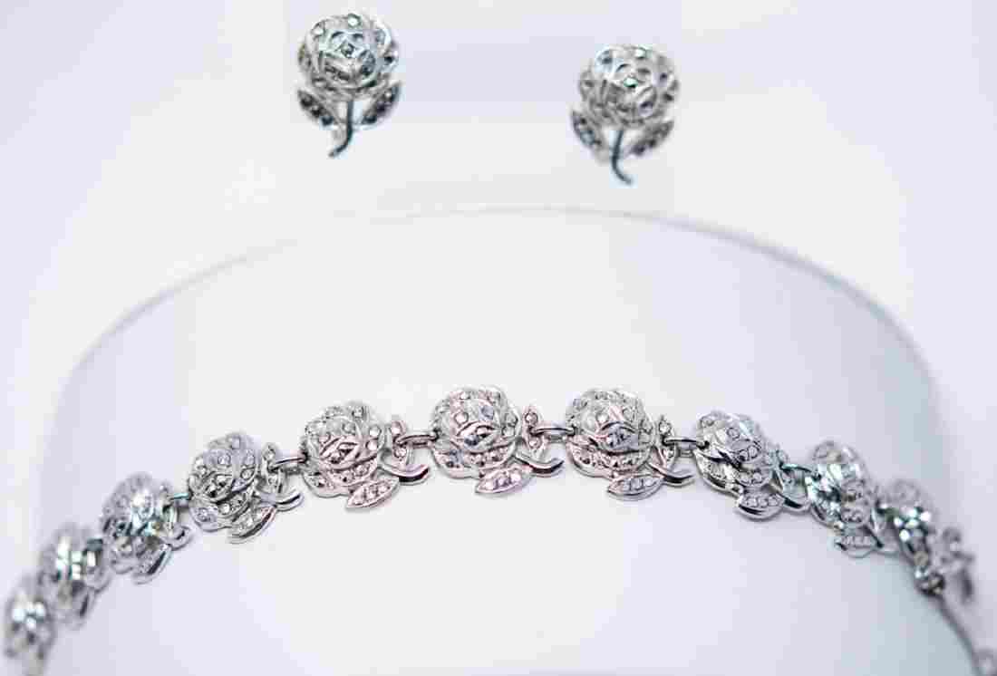 Vintage Sterling Silver & Marcasite Jewelry Suite