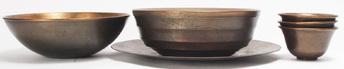 Lot of Calvin Klein Brass Clad Bowls / Serve Ware