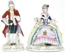 Pair German Porcelain Continental Figures