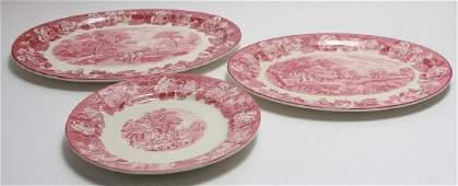 3 Wood & Sons Enoch Woods Ironstone Platters