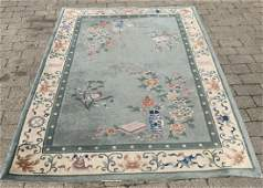 Wool + Silk Chinese Art Deco Style Area Rug