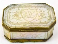 Antique C 1800 English Georgian Jewelry Box