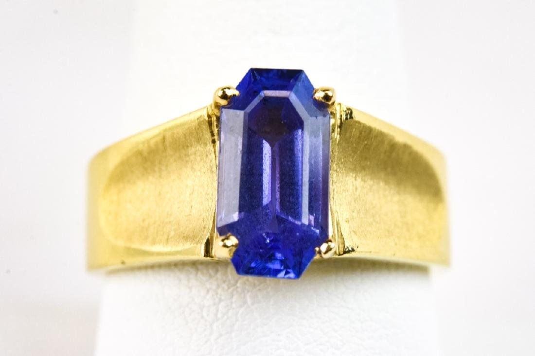 Estate 14kt Yellow Gold Tanzanite Solitaire Ring