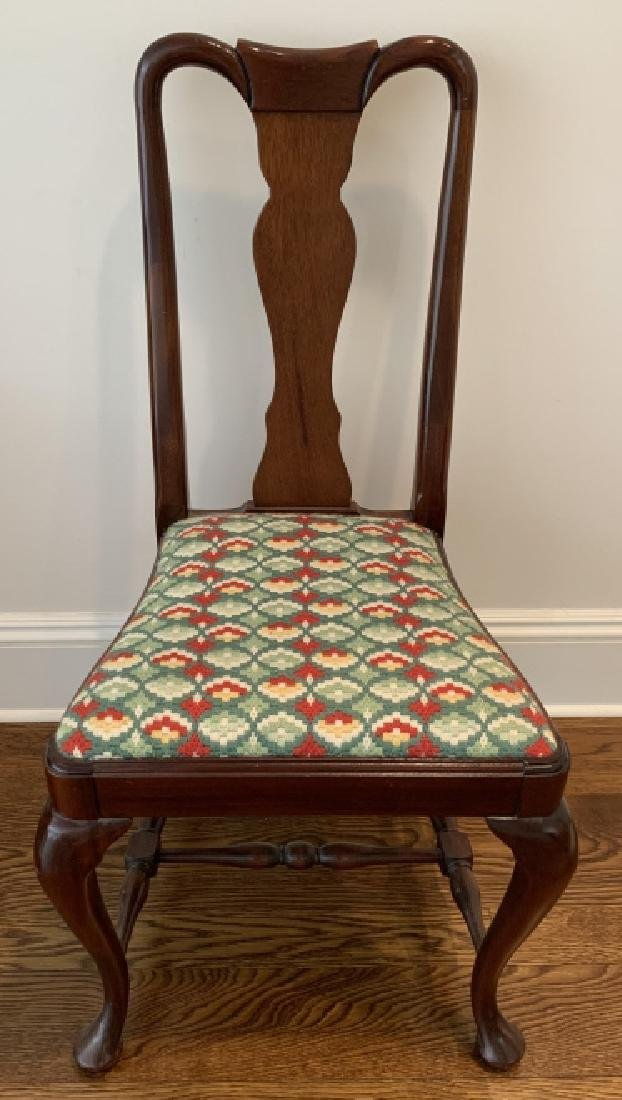 Antique 19th C English Queen Anne Style Side Chair
