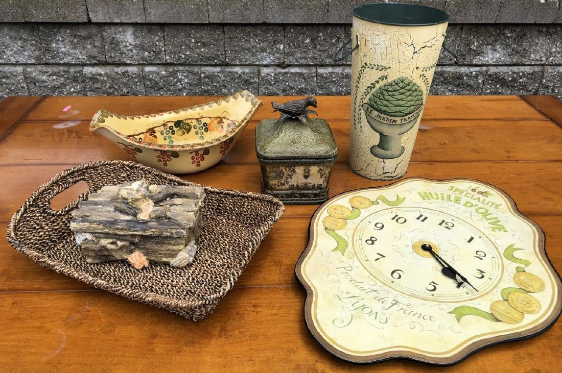 Collection of Decorative European Themed Items