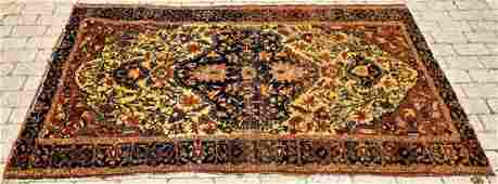 Antique Hand Knotted Persian Sarouk Style Rug