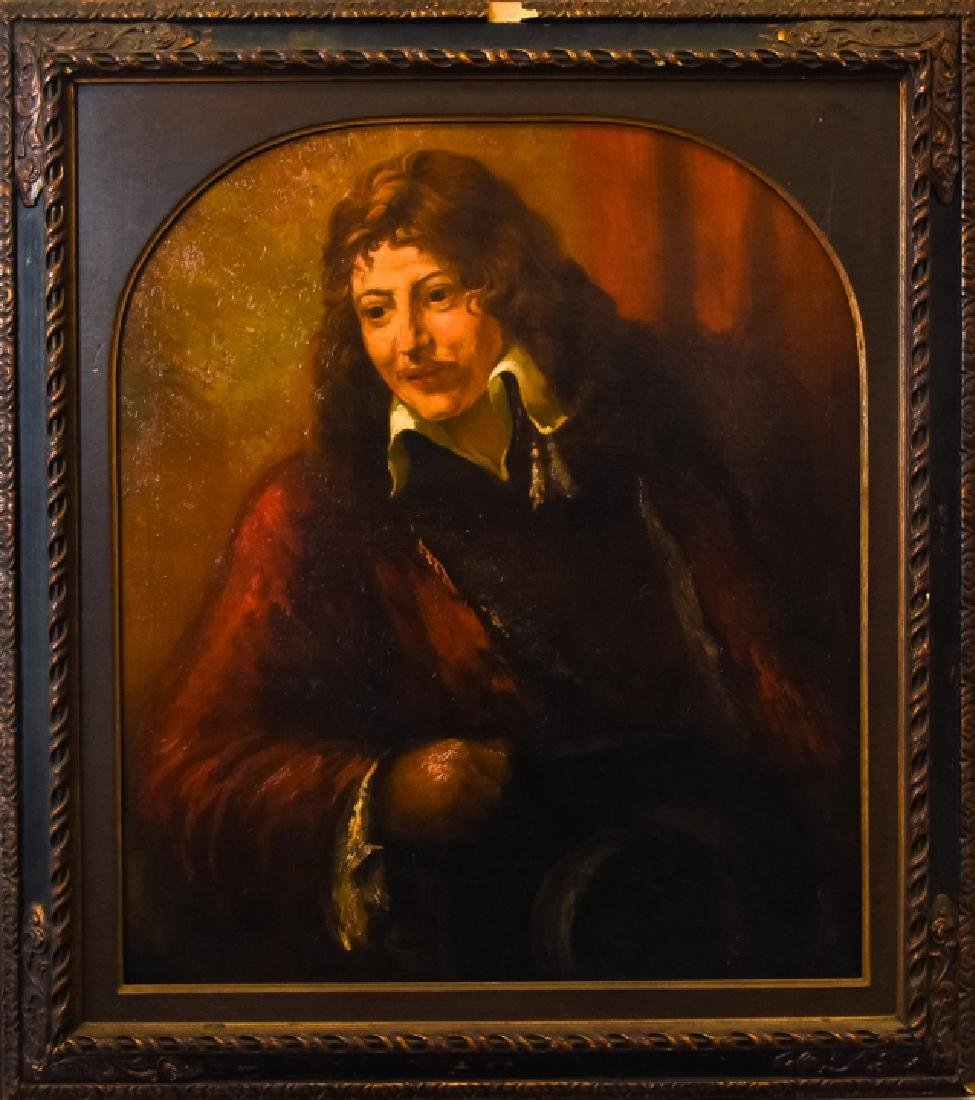 Portrait of a Musketeer Oil on Canvas Painting