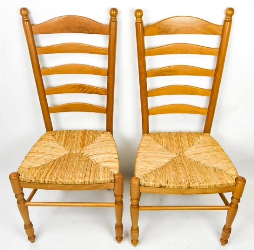 2 Pottery Barn Ladder Back Side / Dining Chairs