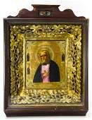 Antique 19th C Russian Icon of Seraphim