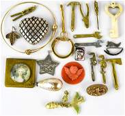 Collection of Vintage  Antique Costume Jewelry