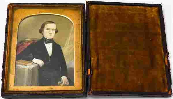 Antique 19th C American Portrait Miniature