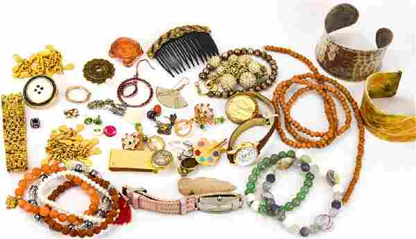 Collection of Costume Jewelry & Watches