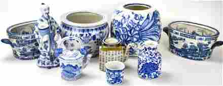 Lot of Chinese Style Porcelain Table Articles