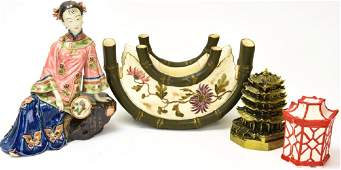 Collection of Asian Decorative Table Articles