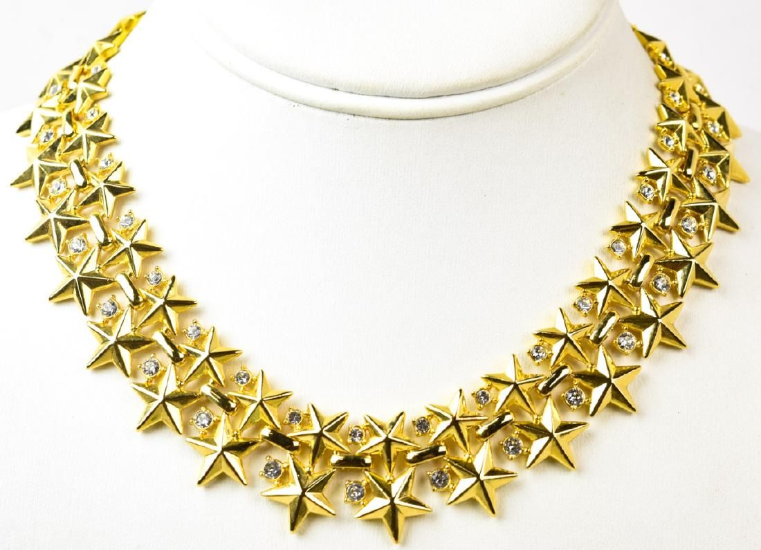 Vintage Trifari Star & Rhinestone Necklace