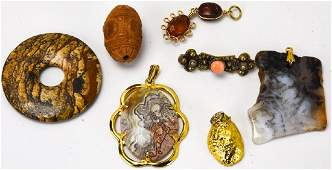 Jewelry Group  Amber Agate Druzy Crystal etc