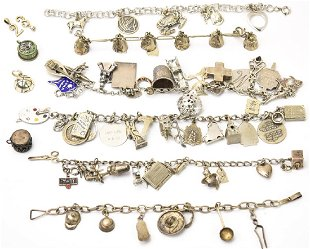 a7d3caf6bfb3f3 Collection of Sterling Silver Charm Bracelets Collection of Sterling Silver  Charm Bracelets