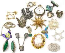 Collection Antique Vintage Jewelry Incld Sterling