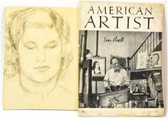 Leon Kroll Archival Collection W Original Drawing