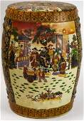Chinese Hand Painted Porcelain Garden Stool