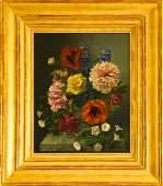 James Tucker Framed Floral Still Life Oil Painting