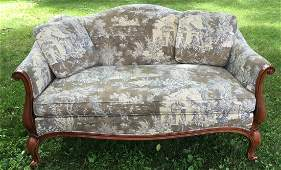 Hickory Chair Co Queen Anne Style Loveseat  Sofa