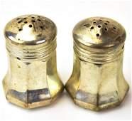 Pair Cartier Sterling Silver Salt & Pepper Shakers