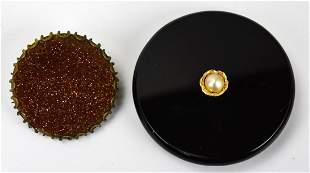 14kt Yellow Gold Pearl Onyx Goldstone Jewelry