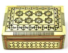 Vintage Inlaid Moroccan Jewelry or Table Box