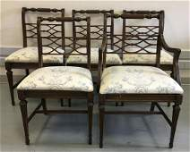 6 Sheraton Style Dining Chairs