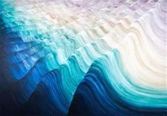 "Rosamund Berg ""Summer Waves II"" Painting 1988"