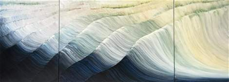 """Rosamond Berg """"Waves of Time + Peace"""" Painting"""