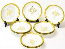 12 GDA Limoges France Porcelain Bowls