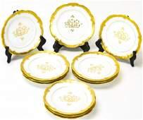 12 AKD Limoges France Porcelain Bread Plates