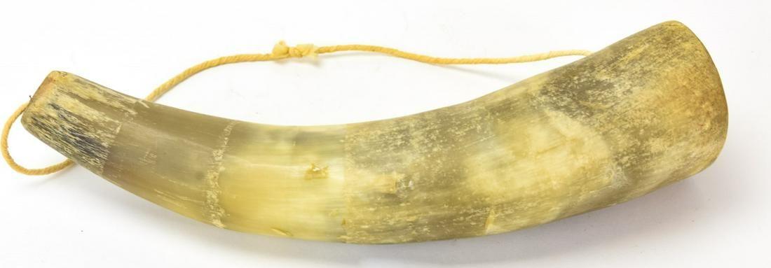 Antique Carved Powder Horn