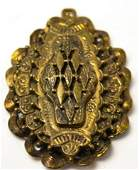 Large Vintage Costume Jewelry Necklace Pendant