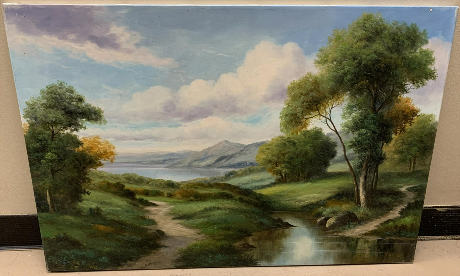 Signed Oil Painting of an Autumn Landscape Scene